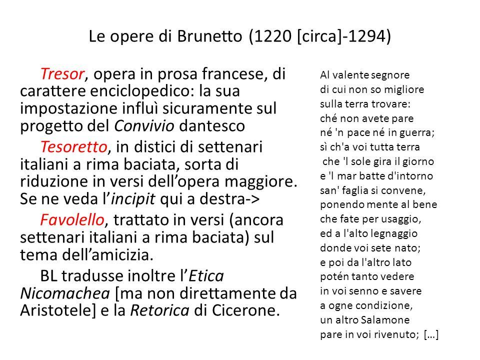 Le opere di Brunetto (1220 [circa]-1294)